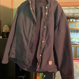 Carhartt lined jacket with hood